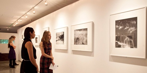 Ansel Adams photographic exhibition visitors, 2013