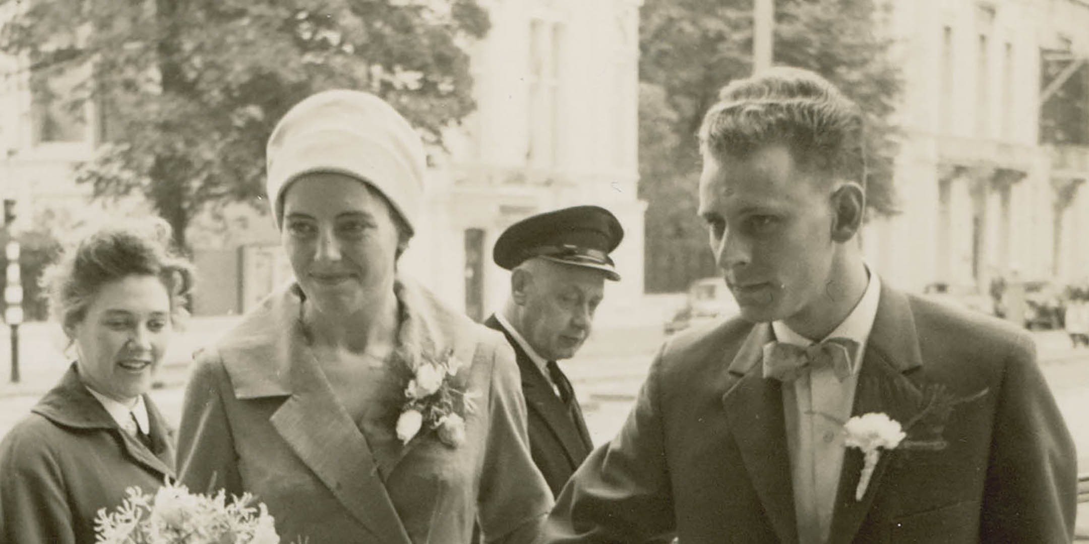 Klaas and Aafke Woldring on their wedding day, the Netherlands, 1959. Reproduced courtesy Klaas and Aafke Woldring.