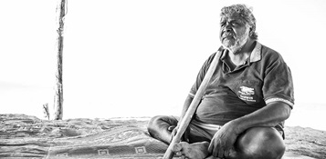 Djambawa Marawili AM ceremonial leader of the Madarrpa clan on northeast Arnhem Land and a lead plaintiff in the Blue Mud Bay Case Photo by Justin Overell
