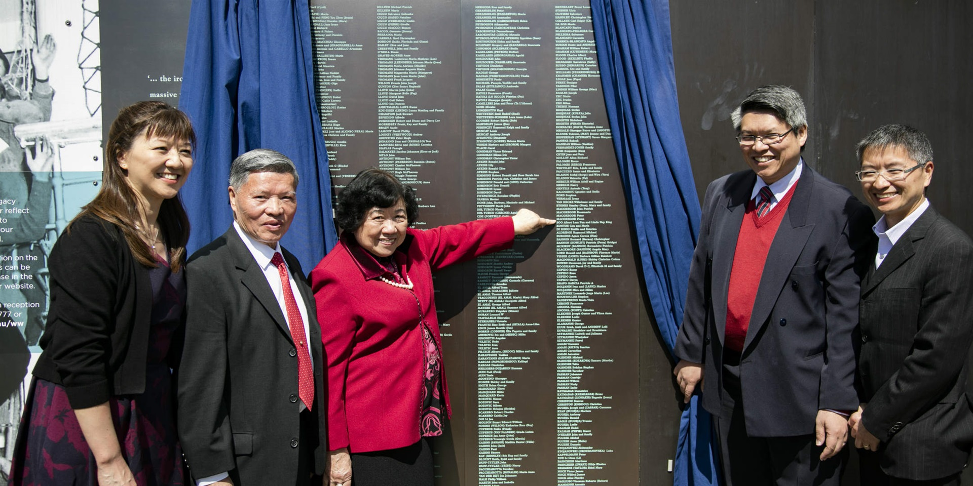 Welcome Wall unveiling ceremony, 10 September 2017. The Soo Family.
