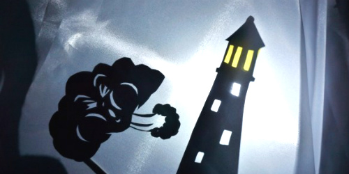 lighthouse story shadow puppets