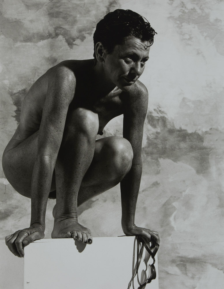 Tracey Clay: swimmer, on diving block, 2002. ANMM Collection NC701220, © Paul Freeman. Reproduced courtesy of Paul Freeman.