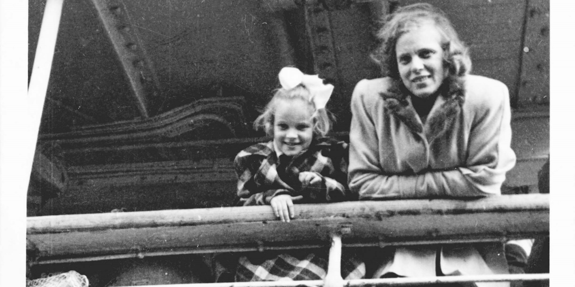 Mother and Daughter on Migration Vessel