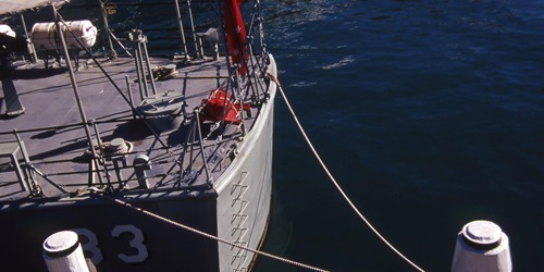 Advance moored