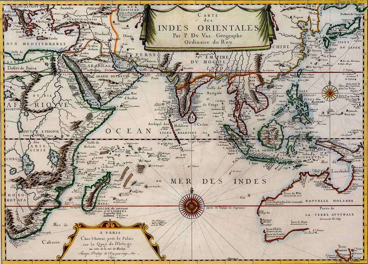 Carte des Indes Orientale [Map of the East Indies] | Pierre Du Val, ANMM Collection