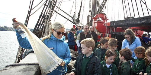 National Science Week was celebrated on board tall ship HMB Endeavour