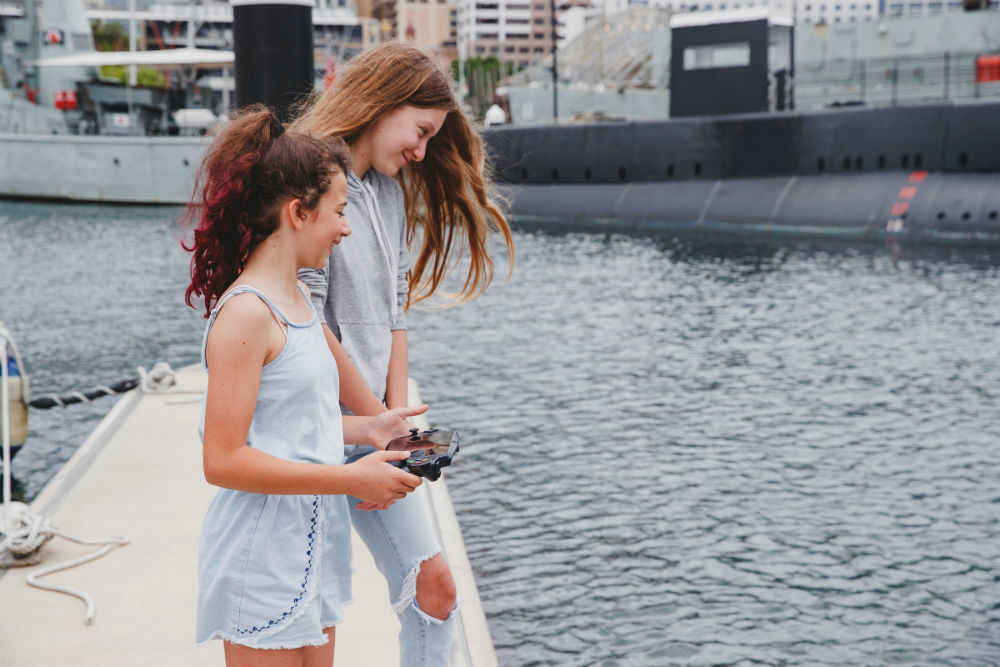 Underwater Drone Challenge - test your gaming skills on Sydney Harbour
