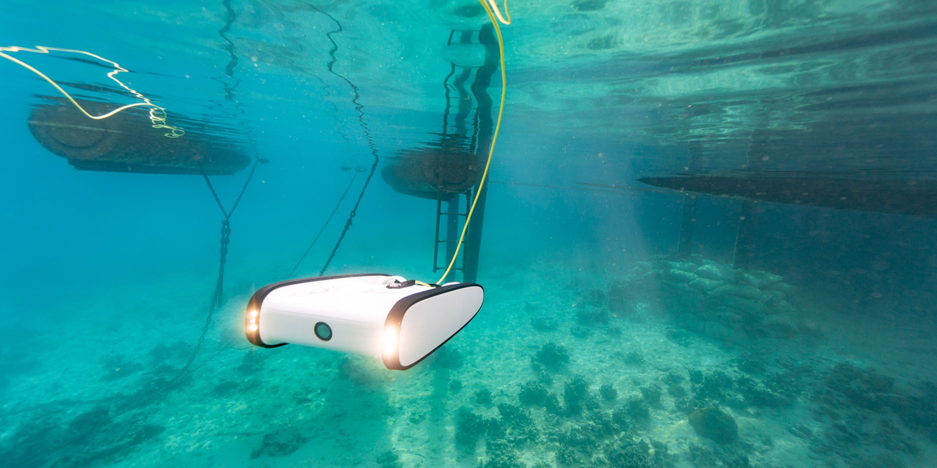 Underwater drone in action