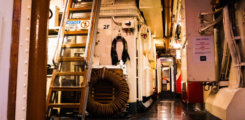 Murder Mystery At Sea - explore the hidden corners of a real navy Destroyer. Image: Kate Pentecost