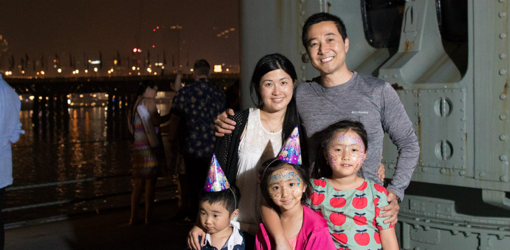 Family fun on HMAS Vampire: New Year's Eve celebrations at the Australian National Maritime Museum, Darling Harbour, Sydney 2017