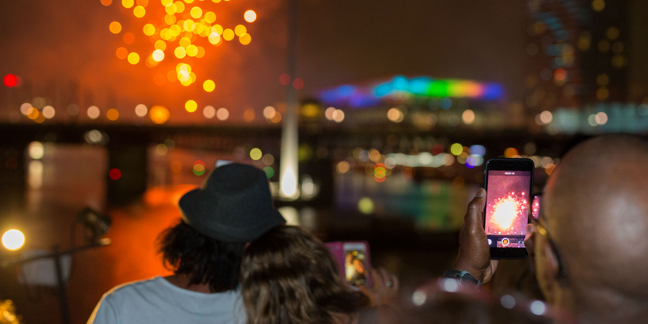Fireworks at Darling Harbour, New Year's Eve 2017