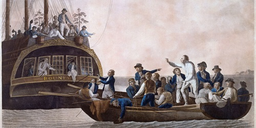 a.	Mutiny on the Bounty (The Mutineers turning Lieutenant Bligh and part of the officers and crew adrift from His Majesty's Ship the Bounty), 1790 by Robert Dodd. Collection: National Portrait Gallery, Canberra