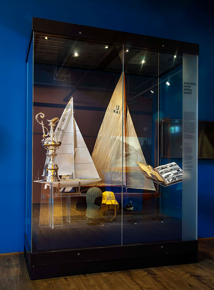 Australian Sailing Hall of Fame display, Wharf 7 foyer