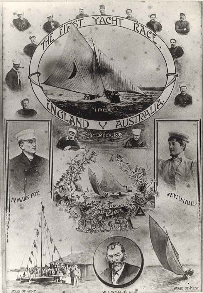The First Yacht Race for the Anglo Australian Challenge Shield - England versus Australia - September 1898. ANMM Collection Gift from Mary Shaw, Foy's granddaughter.