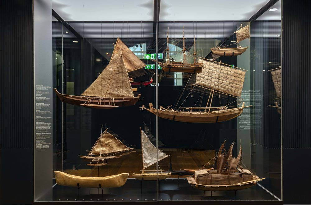 Under Southern Skies gallery - model ships. Image: Andrew Frolows, ANMM.