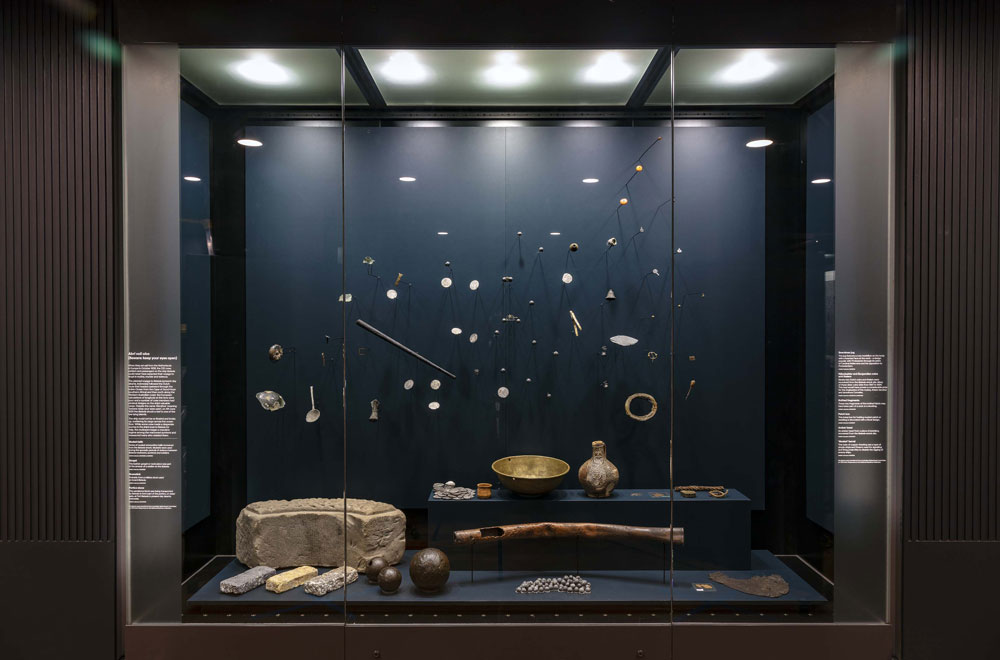 Under Southern Skies gallery - objects from the wreck of the Batavia. Image: Andrew Frolows, ANMM.