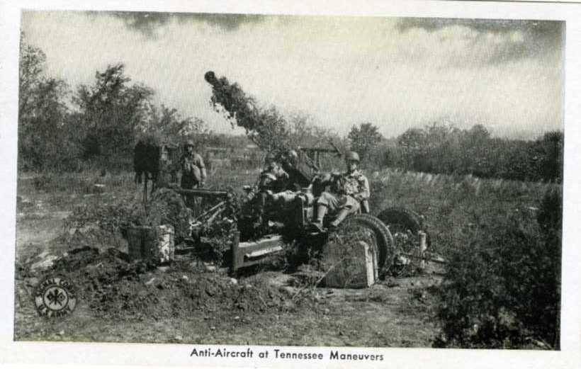 Anti-aircraft at Tennessee maneuvers