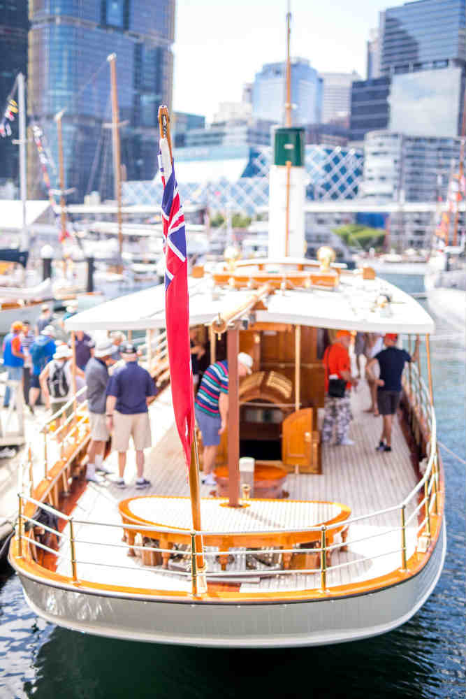Made in 1900, Edwardian Steamer Yacht Ena makes an impression on Sydney Harbour
